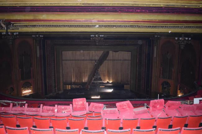 Inside the former EMD cinema