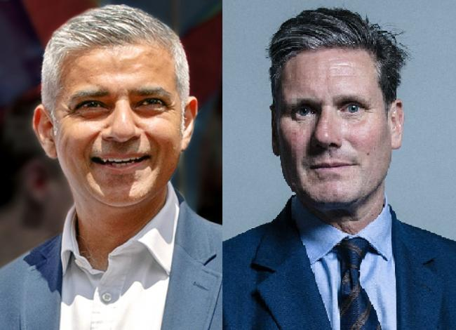 Sadiq Khan (left) believes Keir Starmer is the best person to unite Labour.