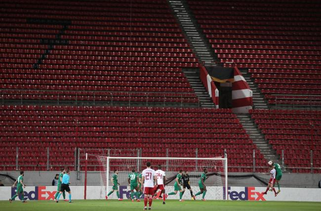 Wolves' Europa League 1-1 draw at Olympiacos tonight was played behind closed doors due to the coronavirus outbreak. Picture: Action Images
