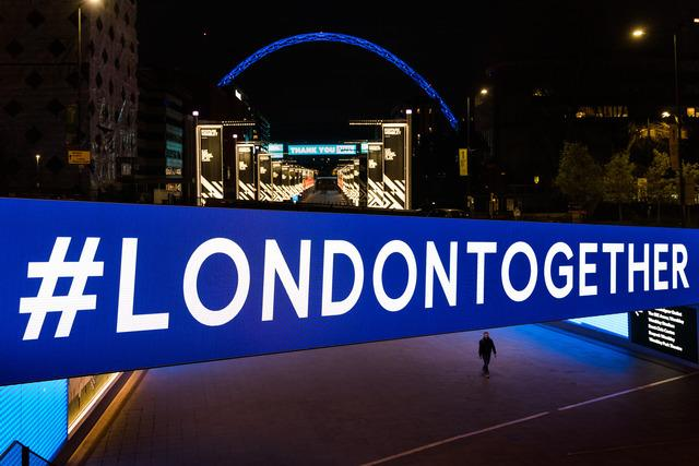 Wembley Park is encouraging Londoners to pull together with the hashtag (Photo: Amanda Rose).
