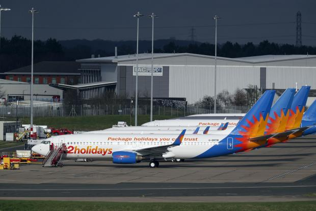 East London and West Essex Guardian Series: AIRLINE: Several Jet2 planes have been parked up at Birmingham Airport during the pandemic. Picture: Steve Parsons/PA