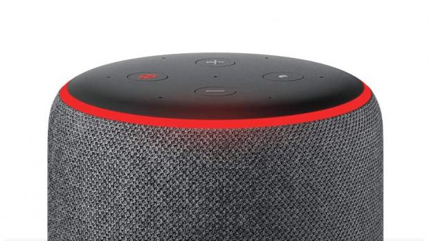 East London and West Essex Guardian Series: A red light ring means the Echo's microphones are turned off, and Alexa can't hear your conversations. Credit: Amazon