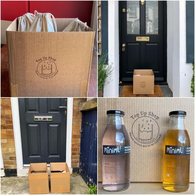 Some of Top Up Shop's deliveries and products