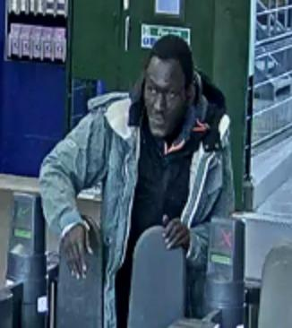 Police would like to speak to this man after an attack at Ilford station