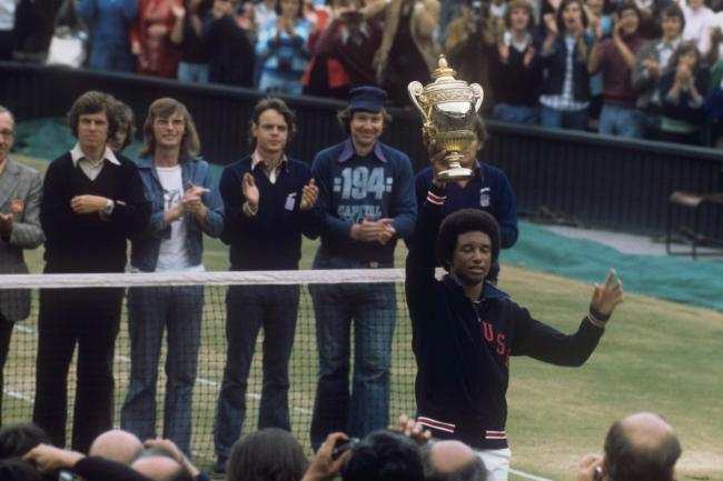 Arthur Ashe became Wimbledon's first black champion in 1975