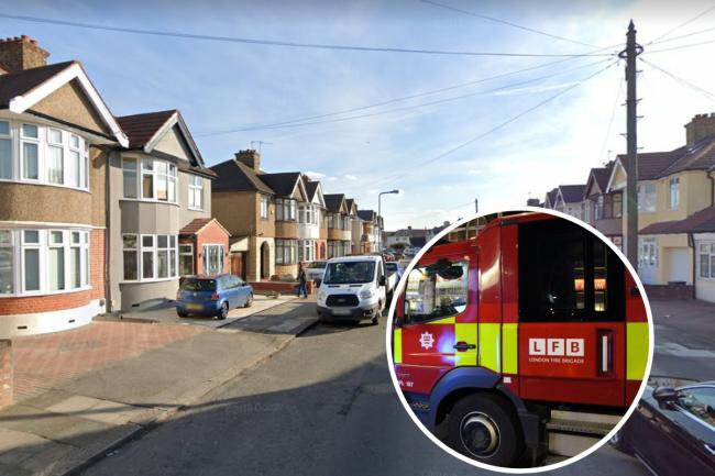 London Fire Brigade were called to the blaze in Meadway, Ilford, on Monday, August 3. Photo: Google Maps