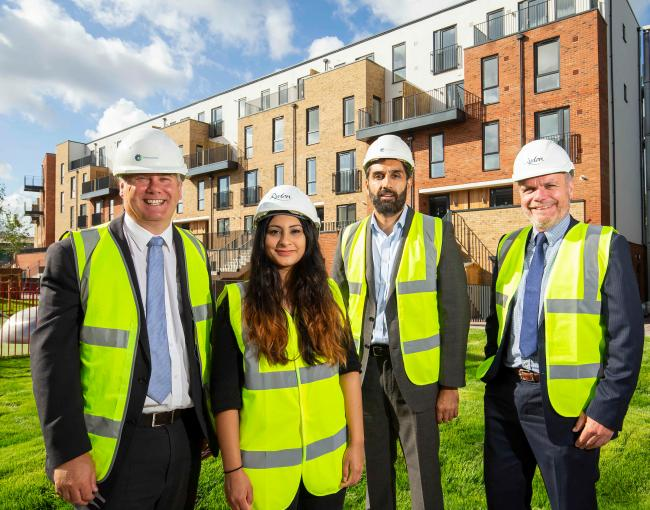 Cllr Hussain (centre left) at a development in 2018 (Archive photo)