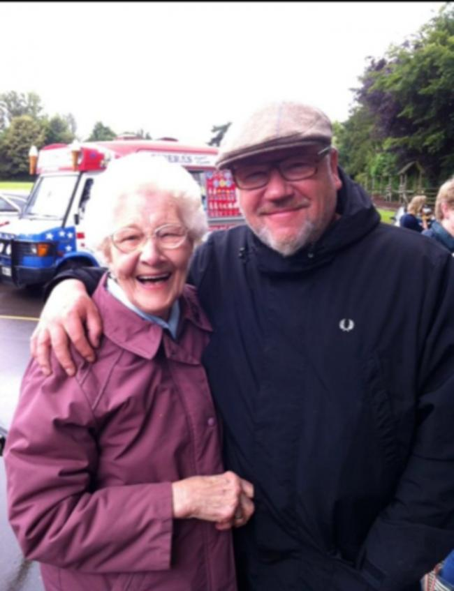 All smiles: Emily Turner and Roy Winstone