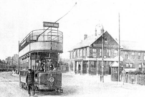 Trams in Chingford in the early 1900s. Photos: Gary Stone - Chingford Historical Society