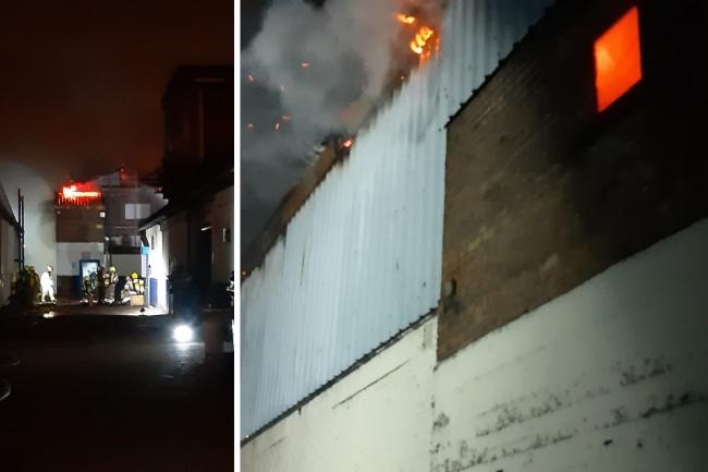 Firefighters were called out to the Warehouse blaze in Argall Avenue early this morning. Photos: London Fire Brigade