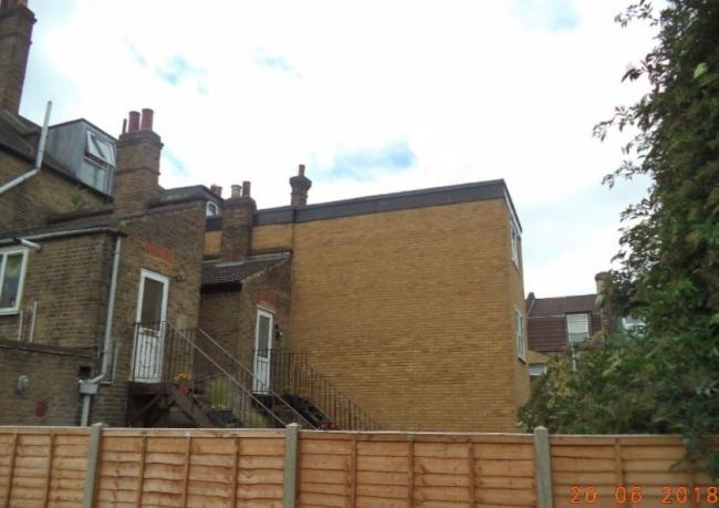An illegal three-storey extension on a Walthamstow property (Waltham Forest Council)