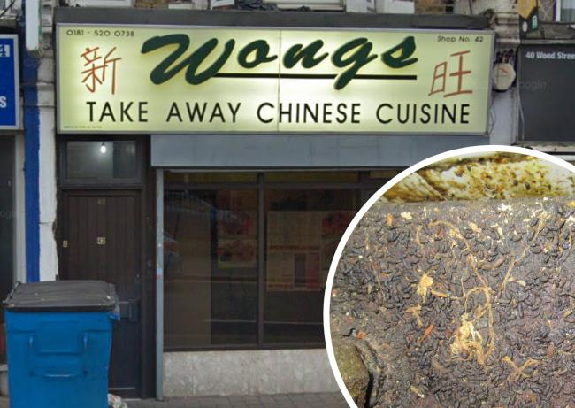 Wong's Chinese Takeaway and mouse droppings found inside (Google Streetview/Waltham Forest Council)