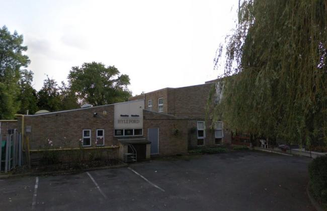 The former Hyleford School site