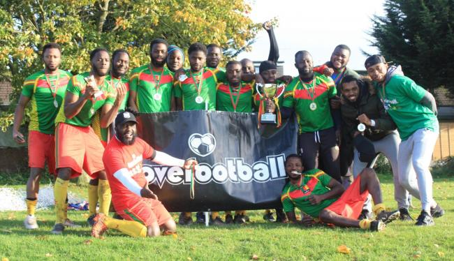 The Cameroon team celebrate their victory