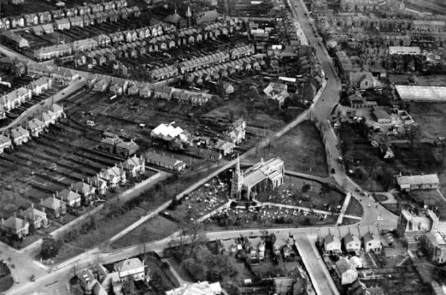 This aerial view dates back around 90 years. Photos: Gary Stone - Chingford Historical Society