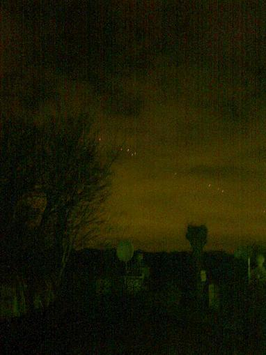 The strange lights captured over Buckhurst Hill last week.