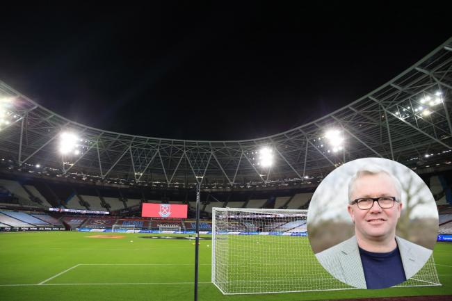 Paul Donovan is missing the bustle of fans at West Ham's stadium