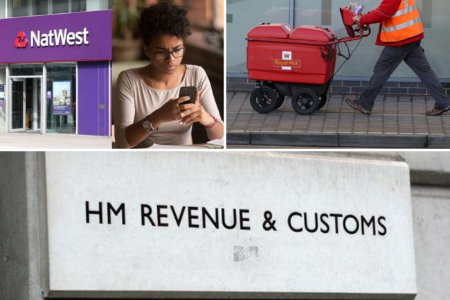 HMRC, Royal Mail, Natwest, NHS: Covid scams to look out for. (PA/Canva)