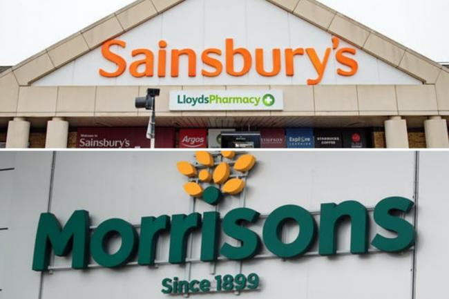 Sainsbury's join Morrisons in enforcing stricter Covid rules in UK stores. (PA/Canva)