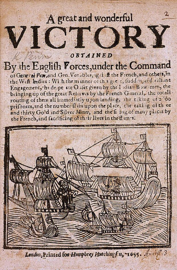 East London and West Essex Guardian Series: News of the capture of Jamaica in 1654. Credit: British Library Board
