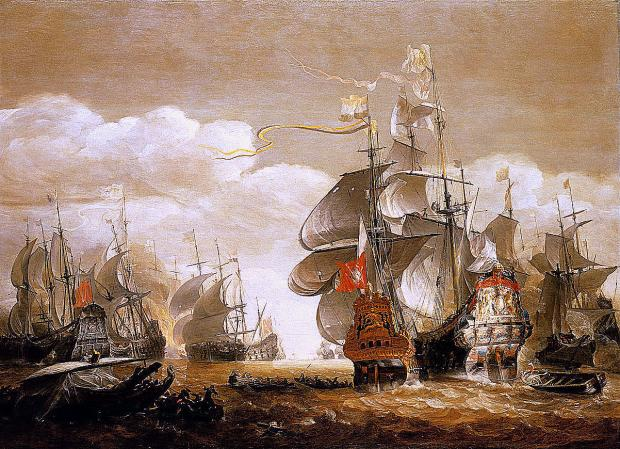 East London and West Essex Guardian Series: Caption The Battle of Lowestoft 1665. Credit: National Maritime Museum
