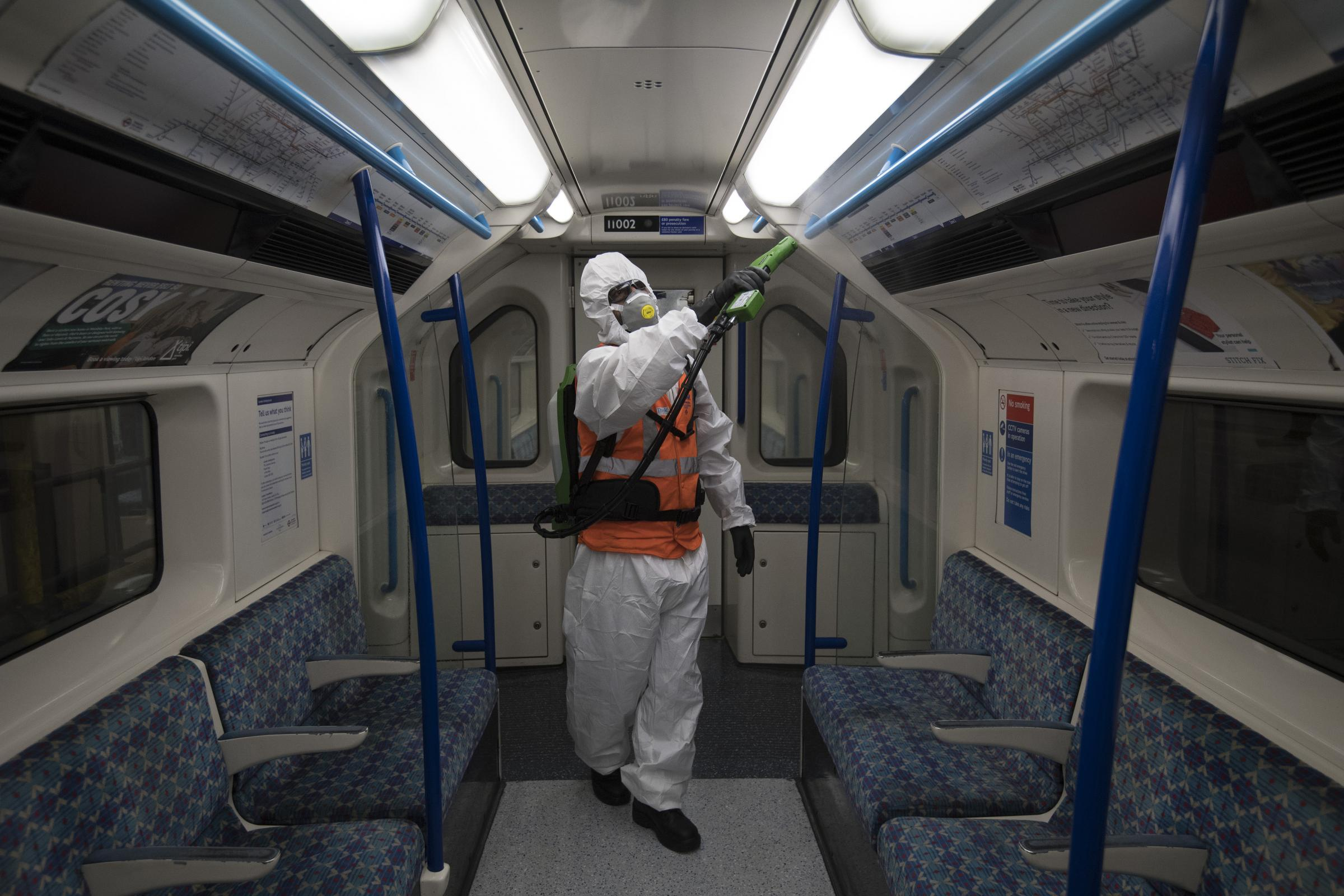 Hospital grade cleaning is being used to clean TfL services (Photo: PA)