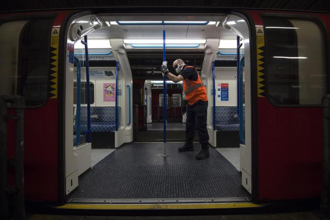 No traces of Covid-19 have been found on London's public transport systems after extensive tests (Photo: PA)