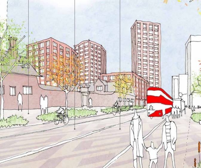 An artists impression of what the area could look like (Redbridge Council)