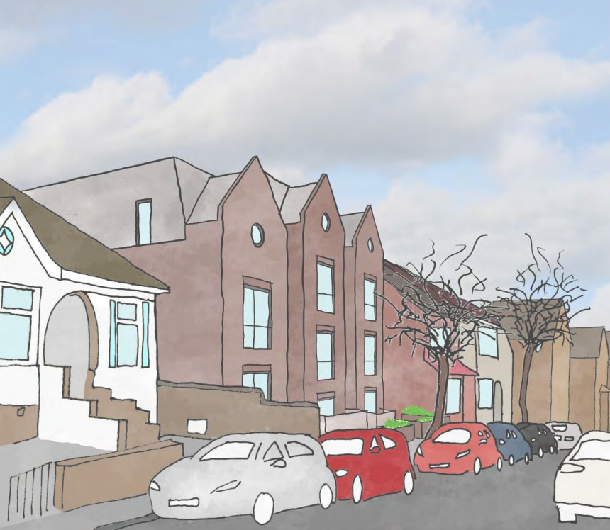 An artists impression of the plans for Sylvan Road