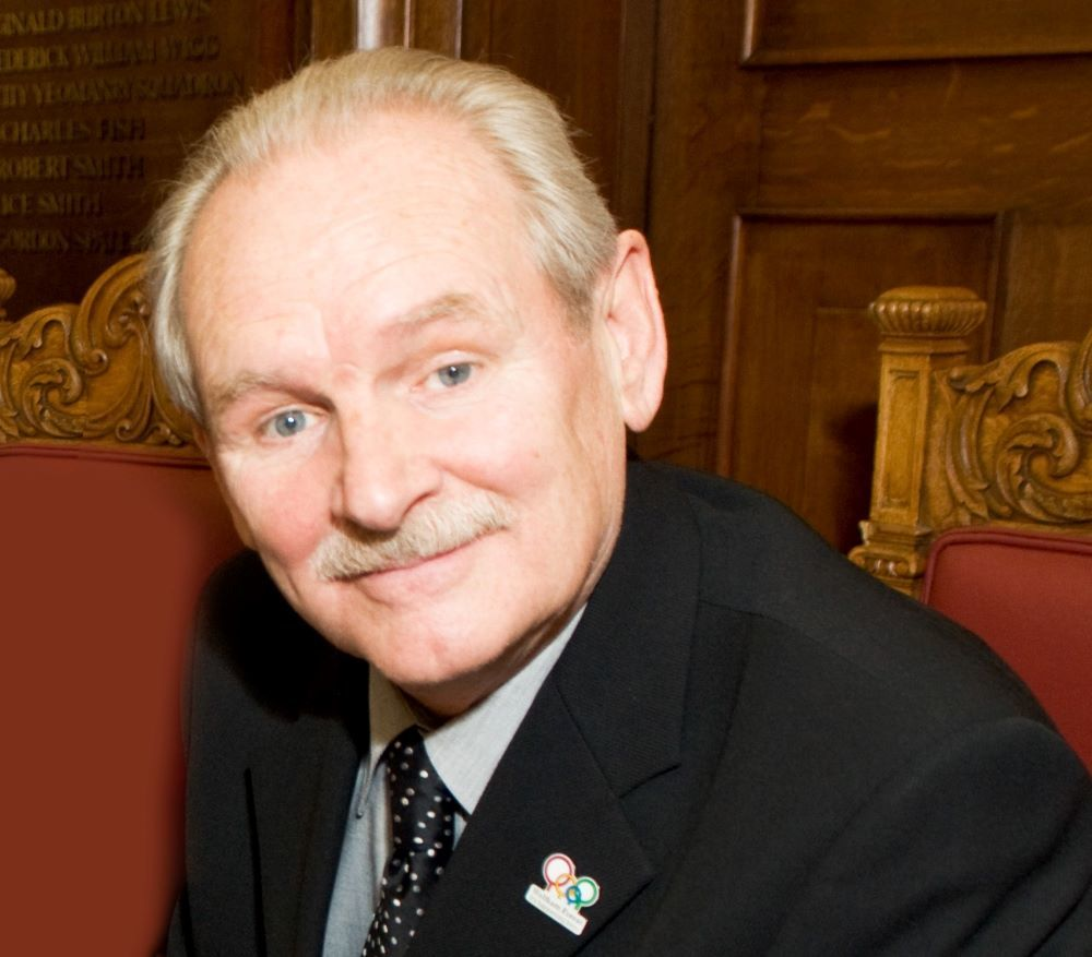 Cllr Robbins CBE was elected mayor of the borough in 2019