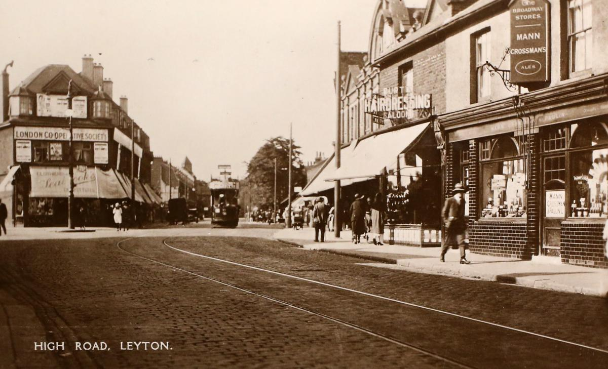 The junction of Leyton High Road and Grange Park Road, around 1930. Picture: Vestry House Museum archive