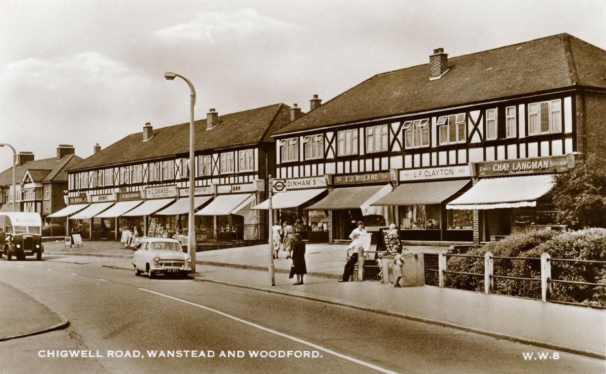 Chigwell Road, Woodford Bridge in the 1950s. Picture:Alan Simpson Leyton and Leytonstone Historical Society