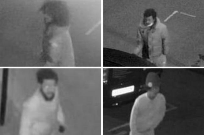 The Met Police are appealing for help identifying four men wanted in connection with an aggravated burgalry in Walthamstow. Photo: Met Police