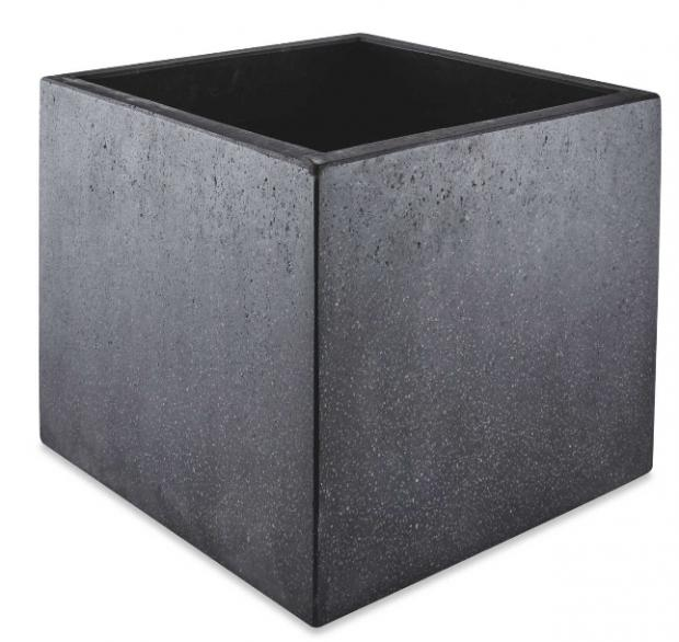East London and West Essex Guardian Series: Black Square Terrazzo Plant Pot. (Aldi)