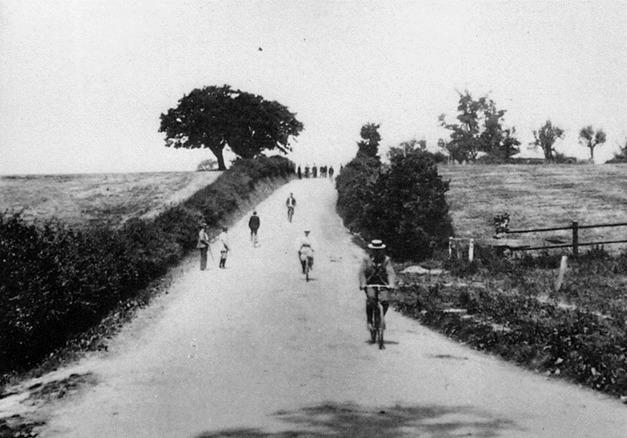 Cyclists and walkers in Old Church Road c1900. Credit: Gary Stone