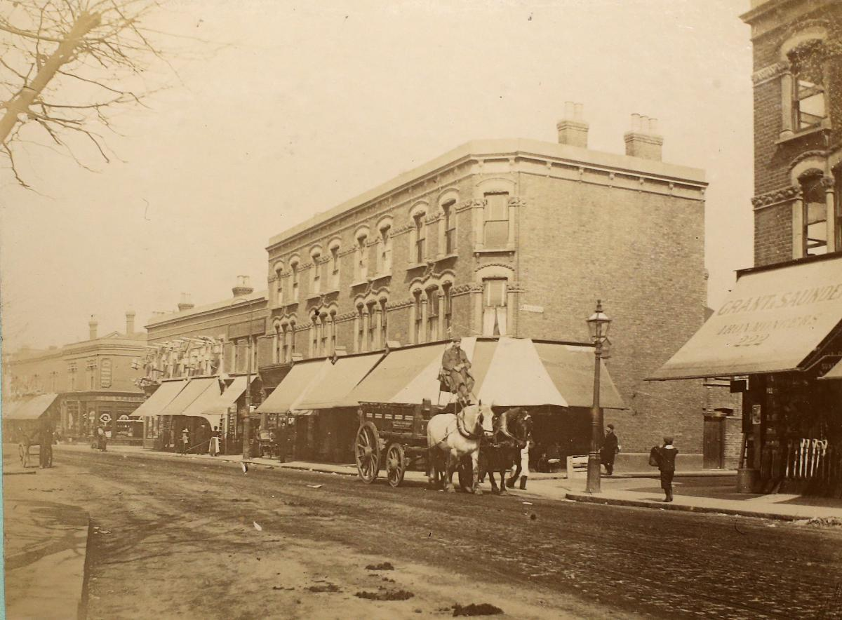 The corner of High Road, Leyton and Warren Road, in April 1900. Picture: Vestry House Museum archive
