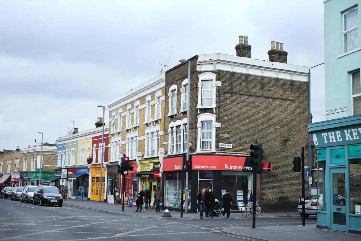 A modern day view of the corner of High Road, Leyton and Warren Road