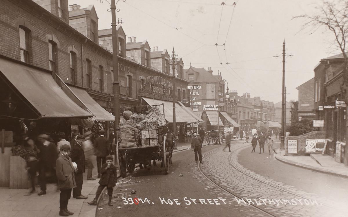 Hoe Street, Walthamstow, in 1910. Picture: Vestry House Museum archive