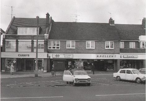 Currys and RP Ellen stores in High Street, Epping in the 1970s. Picture: John Duffell