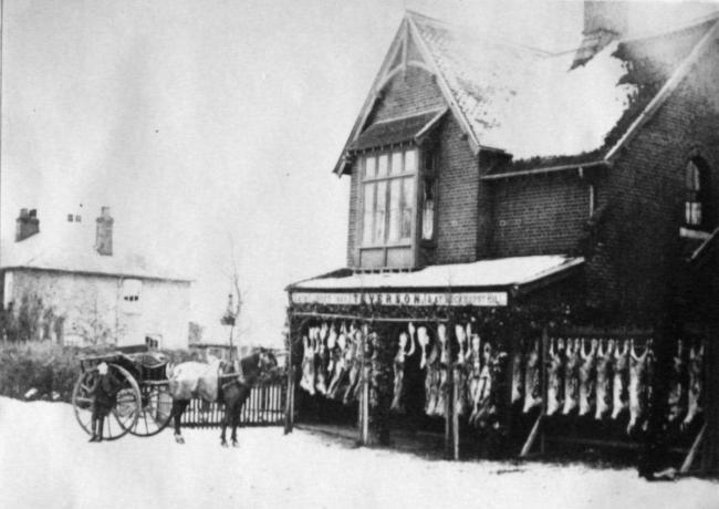 Teverson's butchers shop in High Road, Loughton around 1890. Picture: Loughton and District Historical Society