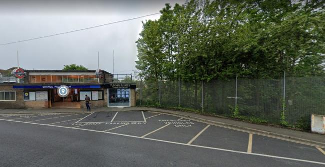 The shrub cutting has taken place near Grange Hill station. Picture: Google Street View