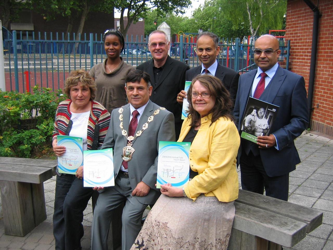 Working together: Councillors and health professionals at the launch of Waltham Forest's annual health report