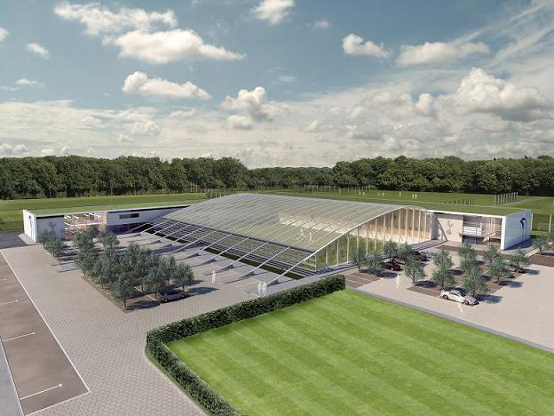 An artist's impression of the new training ground in Enfield.
