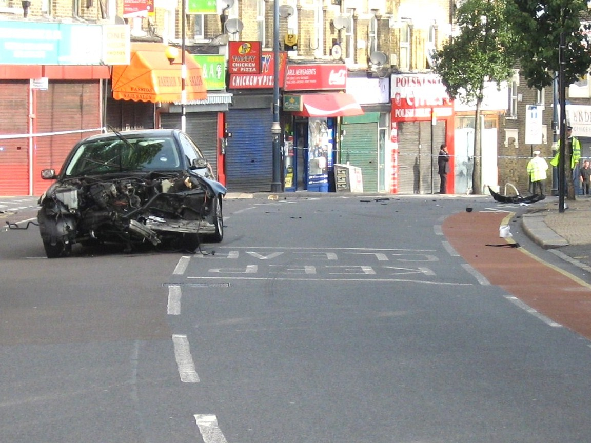 The crash scene. Photo courtesy of the Crap Cycling and Walking in Waltham Forest website.