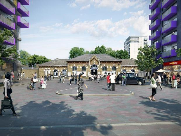Artist's impression of what the Walthamstow Station site will look like after it is regenerated