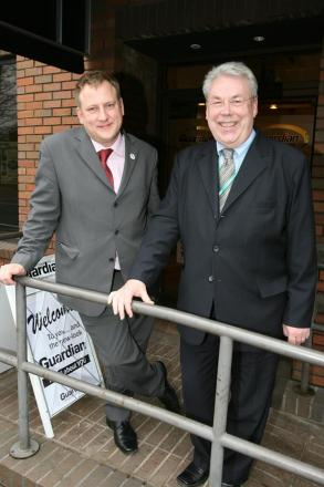 Roger Taylor (right) with former council leader Clyde Loakes