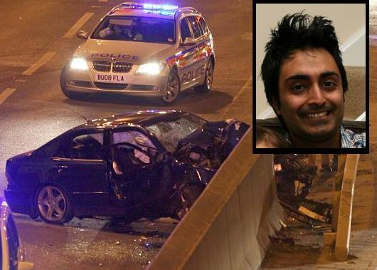 East London and West Essex Guardian Series: Mr Sherwani was lucky to survive the horrific crash.