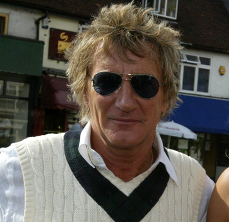 Rod Stewart pictured in Epping High Street