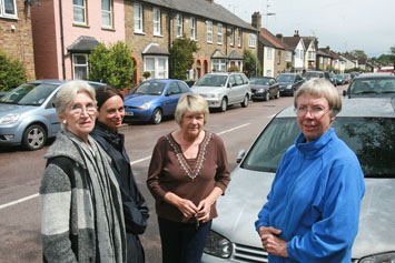Residents Pat Dello, Jo Redman, Ginette Gordon and Judith Woodman in Forest Road