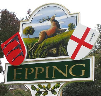 The new town sign